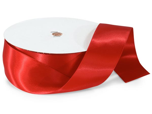 Red Premium Double Faced Satin Ribbon