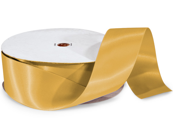 "Gold Ale Double Faced Satin Ribbon 1-1/2""x50 yds 100% Polyester"