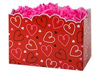 Nashville Wraps Doodle Hearts Basket Boxes