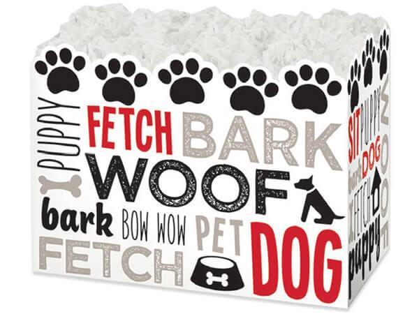 "Large Dog Lovers Basket Boxes 10-1/4x6x7-1/2"""
