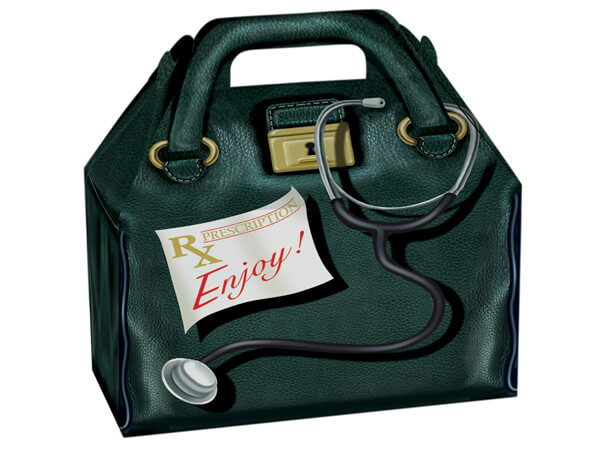 """Doctor's Bag Gable Boxes 8.5 x 4.75 x 5.5"""""""