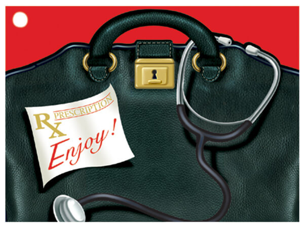 Doctor's Bag Theme Gift Cards 3-3/4x2-3/4""