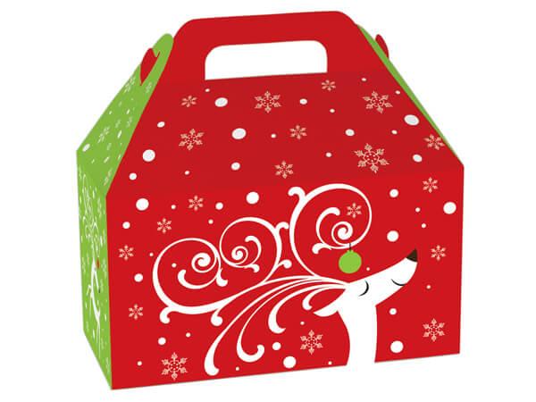 """Dashing Reindeer Gable Boxes 8-1/2 x 4-3/4 x 5-1/2"""""""