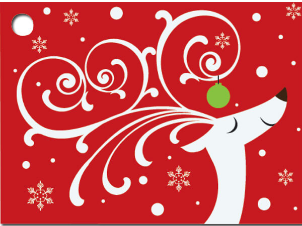 Dashing Reindeer Theme Gift Cards 3-3/4x2-3/4""