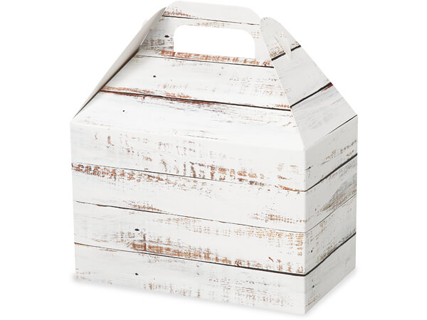 Distressed Wood Gable Boxes