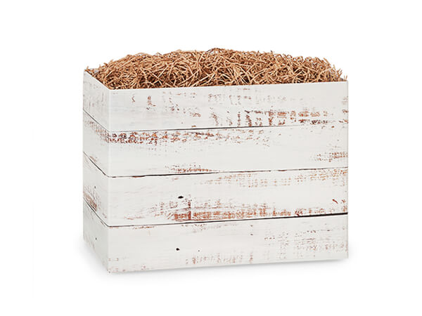 "Distressed Wood Basket Boxes, Small 6.75x4x5"", 6 Pack"