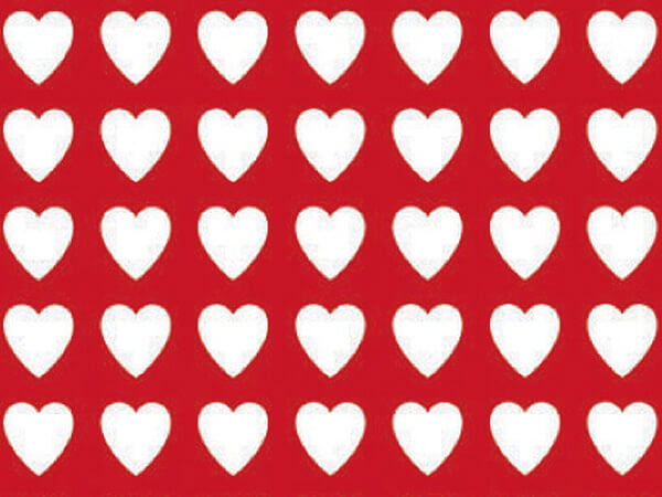 """Valentines Wrapping Paper 18""""x417', Half Ream Roll"""