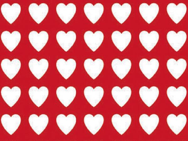 "Valentines  24""x417' Gift Wrap Half Ream Roll"