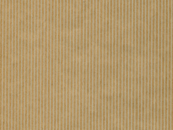 "Natural Pinstripe Kraft Gift Wrap 18""x833', Full Ream Roll"