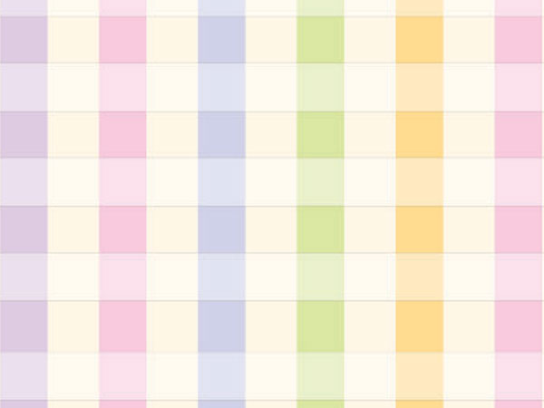 "Pastel Plaid 18""x833' Gift Wrap Full Ream Roll"