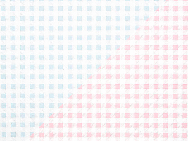 "Pink Or Blue Gingham 24""x100' Gift Wrap Roll (reversible)"