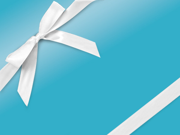 """Turquoise Ultra Gloss 24""""x417' Gift Wrap Half Ream Roll"""
