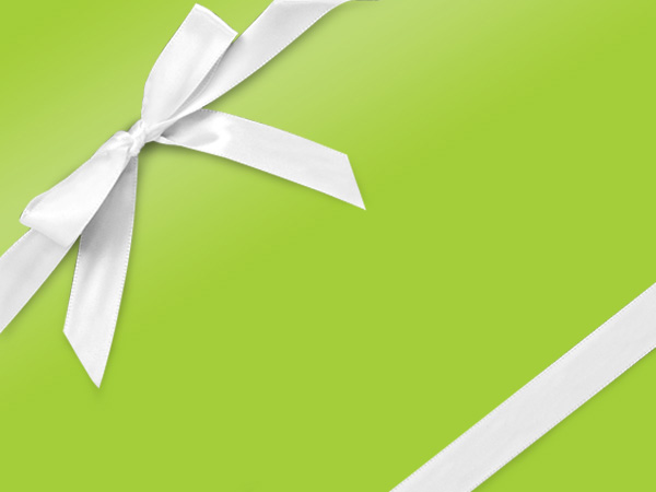 "Lime Ultra Gloss 24""x417' Gift Wrap Half Ream Roll"