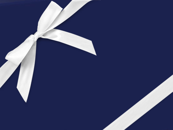 "Navy Ultra Gloss Wrapping Paper 18""x417', Half Ream Roll"