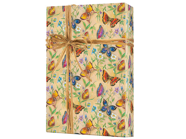 "Butterflies 24""x100' Gift Wrap Roll"