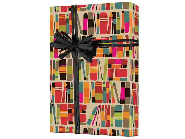 "Book Worm  24""x417' Gift Wrap Half Ream Roll (Kraft)"