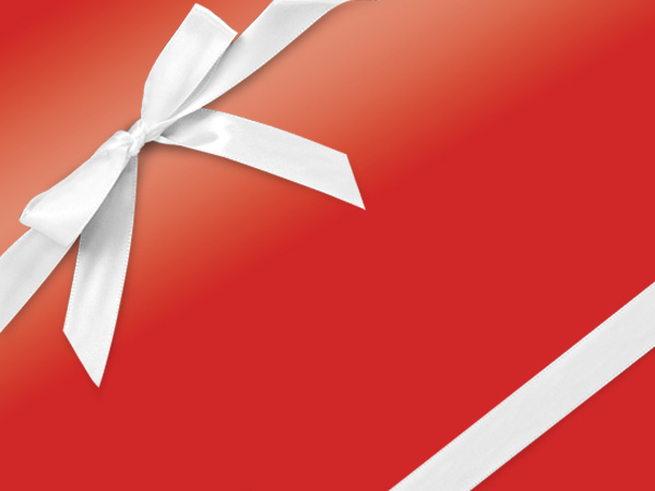 "Red Ultra Gloss 24""x833' Gift Wrap Full Ream Roll"