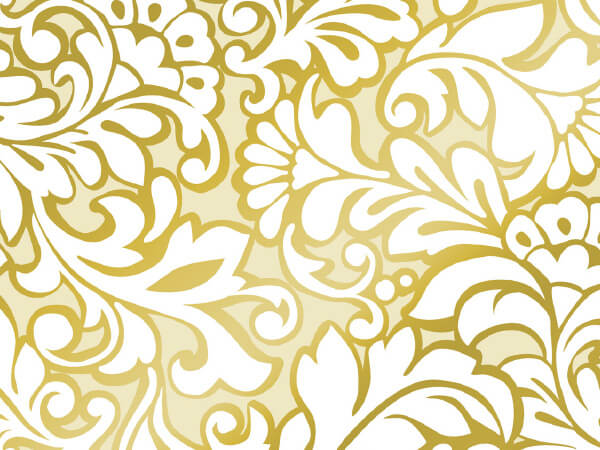 "Damask Blooms 24"" x 100' Cutter Box Gift Wrap"