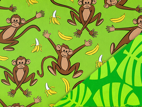 "Going Bananas 24"" x 100' Cutter Box Gift Wrap (Reversible)"