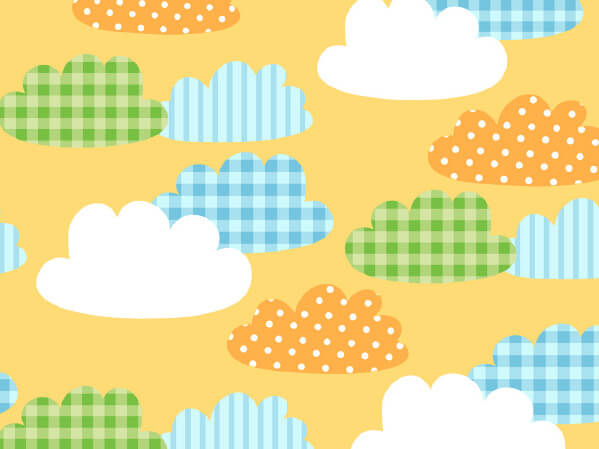 "Gingham Clouds 18"" x 417' Half Ream Roll Gift Wrap"