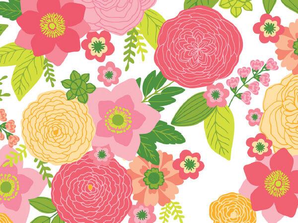 """Rose' Floral (silk Sheen) 24"""" x 100 Cutter Box Gift Wrap"""