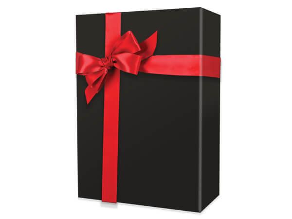 "Black Matte Wrapping Paper 24""x100', Cutter Box"