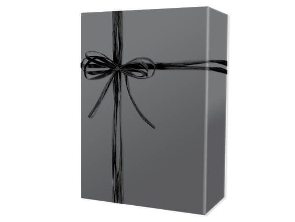 """Grey Matte Wrapping Paper 24""""x417', Half Ream Roll"""