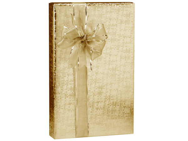 "Gold Spun Sheen Wrapping Paper 18""x417', Half Ream Roll"