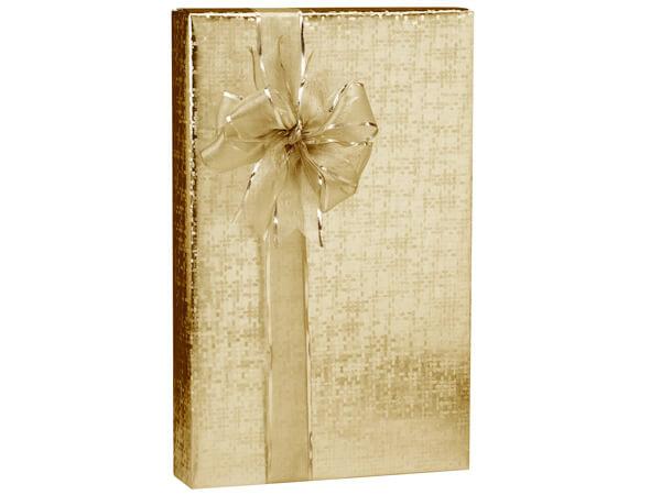 "Gold Spun Sheen Wrapping Paper 24""x417', Half Ream Roll"