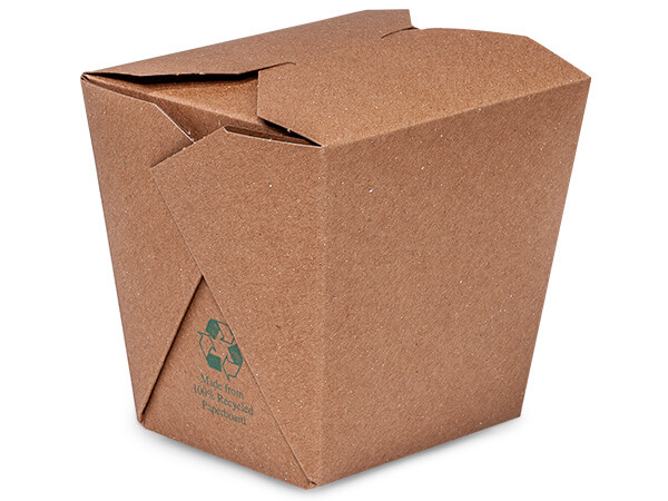 32oz Earth Recycled Kraft Microwave Safe 50 Pk 4-3/8x3-3/4x4-1/4""