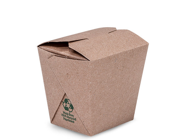 8 oz Earth Recycled Kraft Microwave Safe 2-3/4x2-1/2x2-3/4""