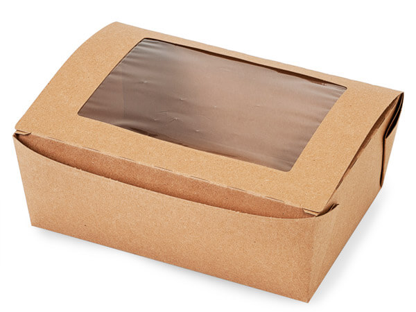 "Bio Plus Earth Recycled Kraft Window Box 35 Pk 8-3/4x6-1/2x3-1/2"""