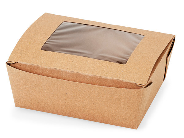Bio Plus Earth Recycled Kraft Window Box 6-5/8x5-1/2x2-1/2""