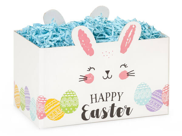 "Happy Easter Bunny Basket Boxes, Large 10.25x6x7.5"", 6 Pack"