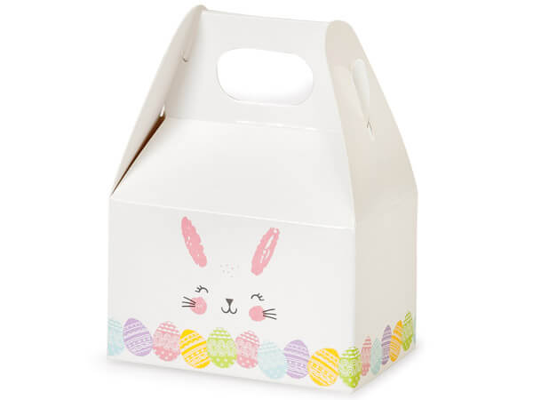 "Happy Easter Bunny Mini Gable Boxes, 4x2.5x2.5"", 6 Pack"