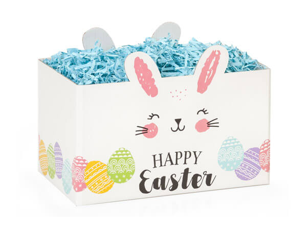 Small Happy Easter Bunny Basket Boxes 6-3/4x4x5""