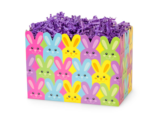 Small Easter Bunnies Basket Boxes 6-3/4x4x5""