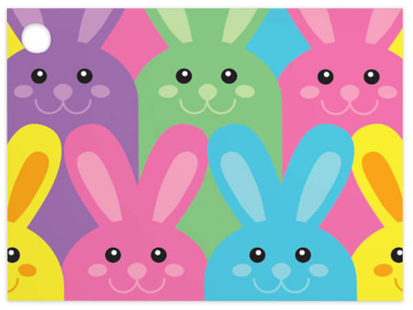 Easter Bunnies Theme Gift Cards 3-3/4x2-3/4""