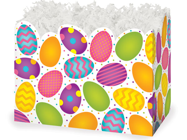 Large Easter Eggs Basket Boxes 10-1/4 x 6 x 7-1/2""
