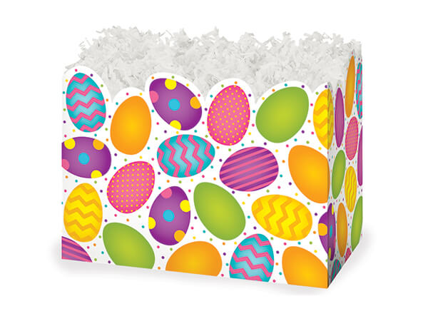 """Small Easter Eggs Basket Boxes 6-3/4 x 4 x 5"""""""
