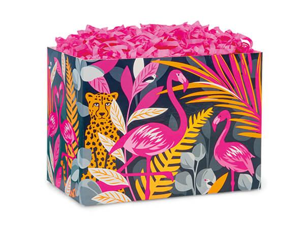 "Exotic Jungle Basket Box, Small 6.75x4x5"", 6 Pack"