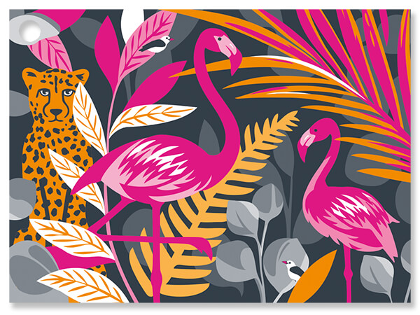 """Exotic Jungle Theme Gift Cards 3.75x2.75"""", 6 Pack"""