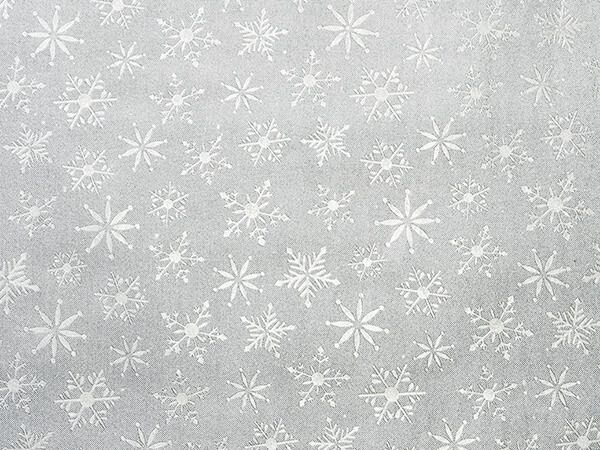 "*Silver Embossed Snowflakes Tissue, 20x30"", Bulk 100 Sheet Pack"