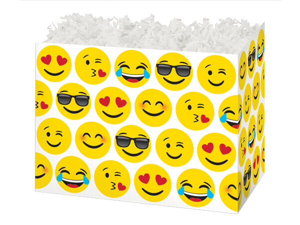 "Small Emoji Basket Boxes 6-3/4 x 4 x 5"""