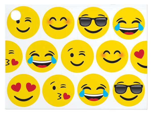 "Emoji Theme Gift Cards 3-3/4x2-3/4"""
