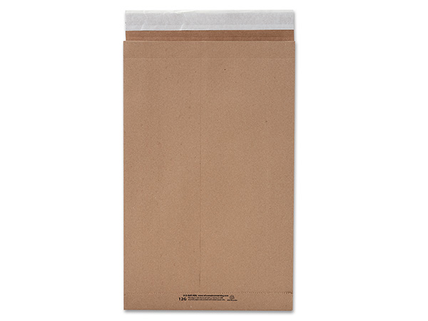 """12-1/2x4x20"""" Natural Peel & Stick 25 Pack Mailers 99 lb Paper"""