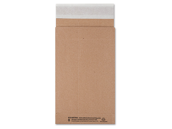 "Brown Kraft Peel & Stick Mailers, 6x10"", 500 Bulk Pack"
