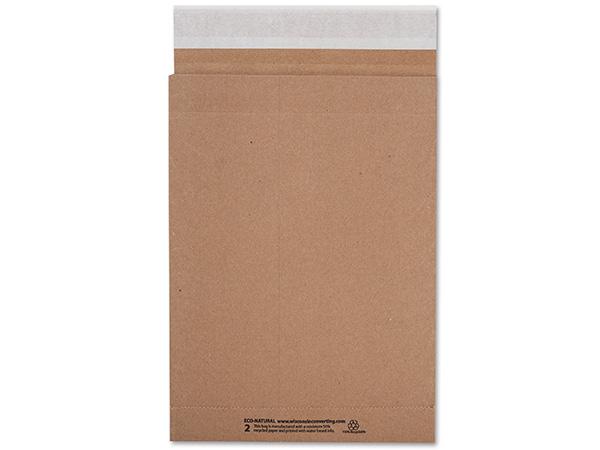 "Brown Kraft Peel & Stick Mailers, 8.75x12"", 500 Bulk Pack"