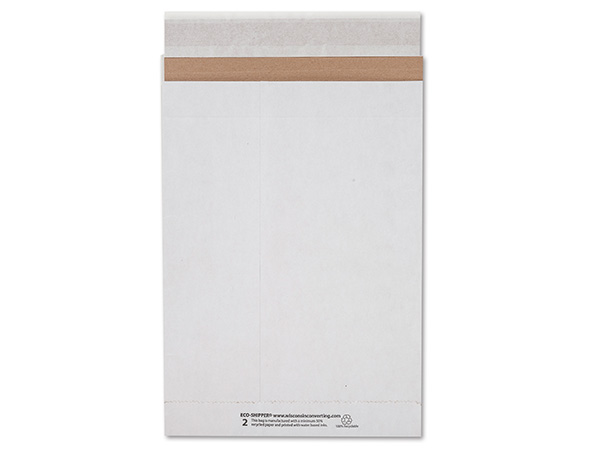 """8-3/4x12"""" White Peel & Stick Mailers 25 Pack 126 lb Paper"""