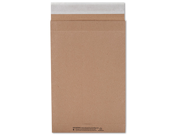 "Brown Kraft Peel & Stick Mailers, 9.5x14.5"", 500 Bulk Pack"